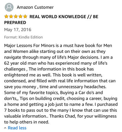 Book Review of Major Lessons For Minors